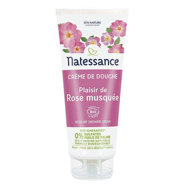Natessance Crème de Douche Rose Musquée Bio 200ml