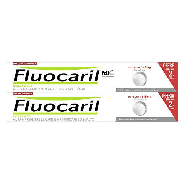 Fluocaril Cosmétique Bi-Fluoré 145mg Dentifrice Blancheur Lot de 2 x 75ml