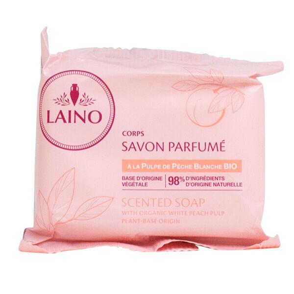 Laino Savon Solide Pulpe de Pêche Blanche 75g