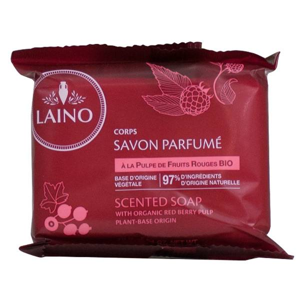 Laino Savon Solide Pulpe de Fruits Rouges 75g