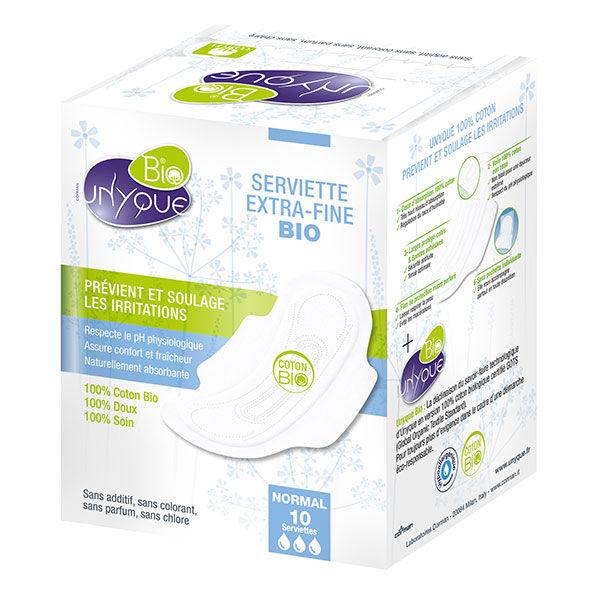 Unyque Serviette Extra-Fine Bio Normal 10 serviettes