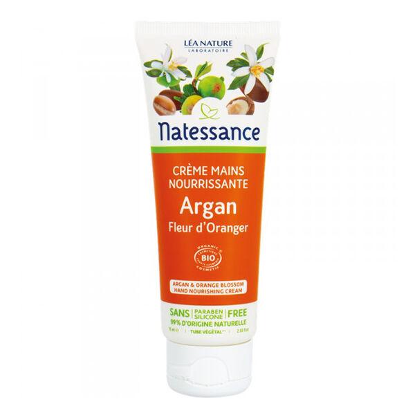 Natessance Crème Mains Nourrissante Argan Fleur d'Oranger Bio 75ml