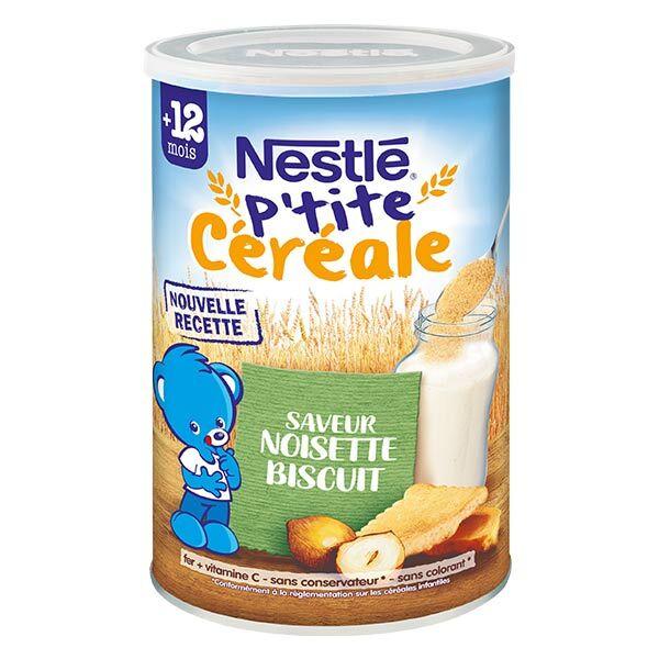 Nestlé Céréales Nestlé P'tite Céréale Saveur Noisette Biscuité 400g