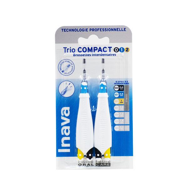 Inava Brossettes Trio Compact 0. 1. 2 Espaces Étroits 6 recharges