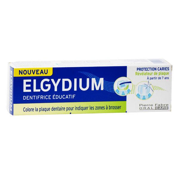 Elgydium Dentifrice Éducatif Protection Carie Révélateur de Plaque Enfants Dès 7 ans 50ml