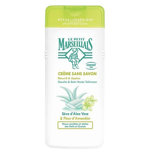 Le Petit Marseillais Crème Sans Savon Sève d'Aloe Vera et Fleur d'Amandier 650ml
