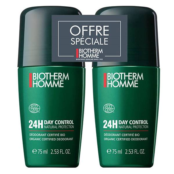 Biotherm Homme Day Control Déodorant 24h Roll-On Lot de 2 x 75ml