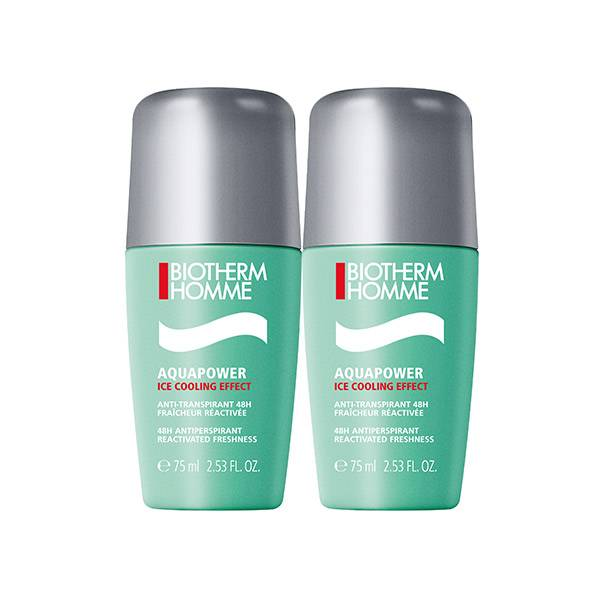 Biotherm Homme Aquapower Roll-On Lot de 2 x 75ml