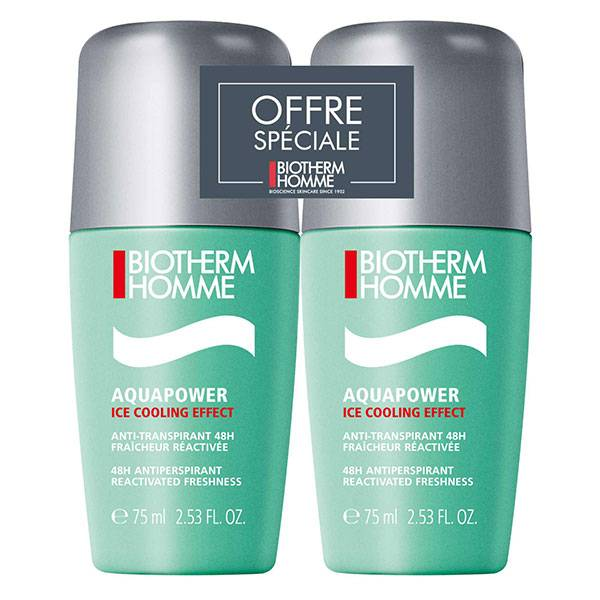Biotherm Homme Aquapower Déodorant Extra Fraicheur Roll-On Lot De 2 X 75ml