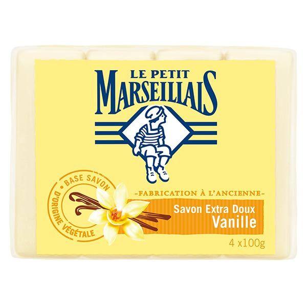 Le Petit Marseillais Savon Extra Doux Vanille Lot de 4 x 100g