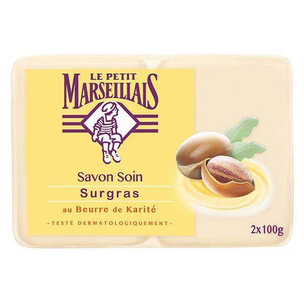 Le Petit Marseillais Savon Soin Surgras Beurre de Karité Lot de 2 x 100g