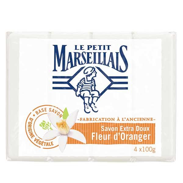 Le Petit Marseillais Savon Extra Doux Fleur d'Oranger Lot de 4 x 100g