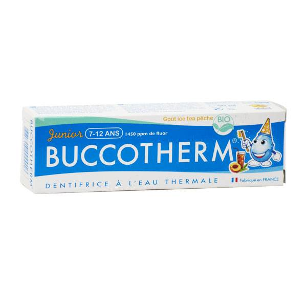 Buccotherm Dentifrice Enfant 7 à 12 ans Bio Goût Ice Tea Pêche 50ml