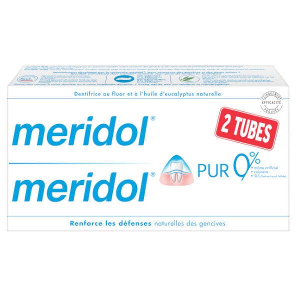 Meridol Pur Dentifrice Pack Lot de 2 x 75ml