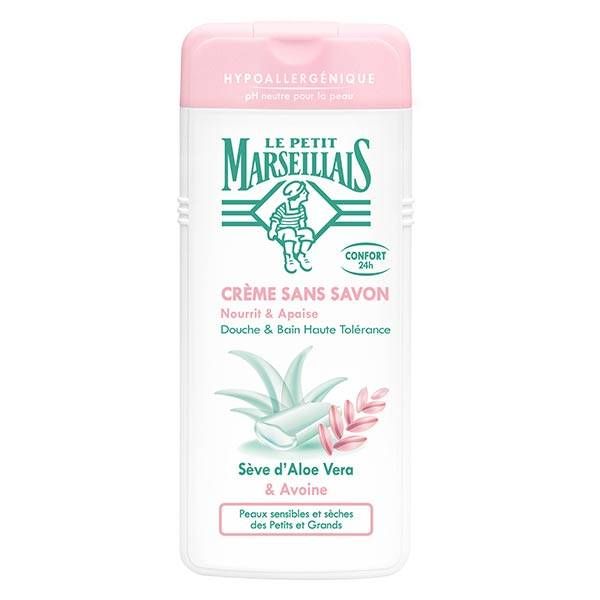Le Petit Marseillais Crème Douche Sève d'Aloe Vera et Avoine 650ml