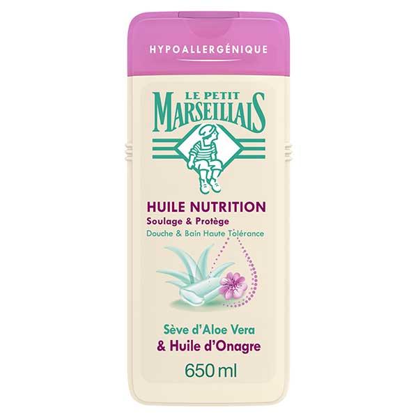 Le Petit Marseillais Huile Nutrition Sève d'Aloe Vera et Huile d'Onagre 650ml