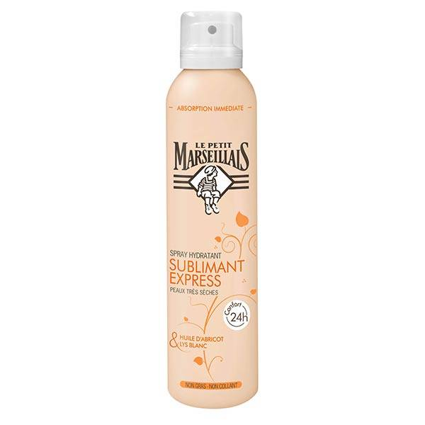 Le Petit Marseillais Spray Hydratant Sublimant Express Huile d'Abricot et Lys Blanc 200ml