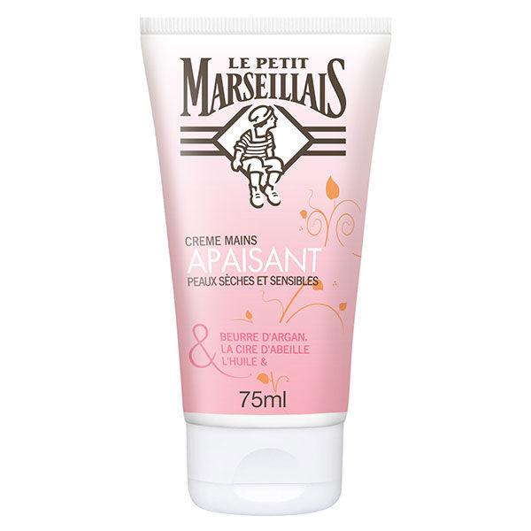 Le Petit Marseillais Crème Mains Apaisant Argan Cire d'Abeille et Rose 75ml