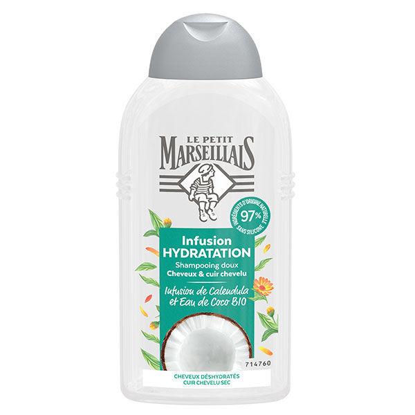 Le Petit Marseillais Shampooing Infusion Hydratation Calendula et Eau de Coco Bio 250ml