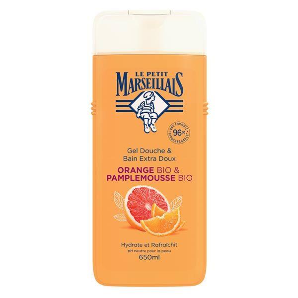 Le Petit Marseillais Gel Douche Extra Doux Orange Bio et Pamplemousse 650ml