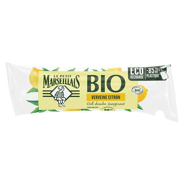 Le Petit Marseillais Bio Gel Douche Énergisant Verveine Citron Éco-Recharge 250ml