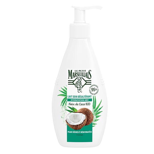 Le Petit Marseillais Lait Soin Hydratant Désaltérant Noix Coco Bio 250ml