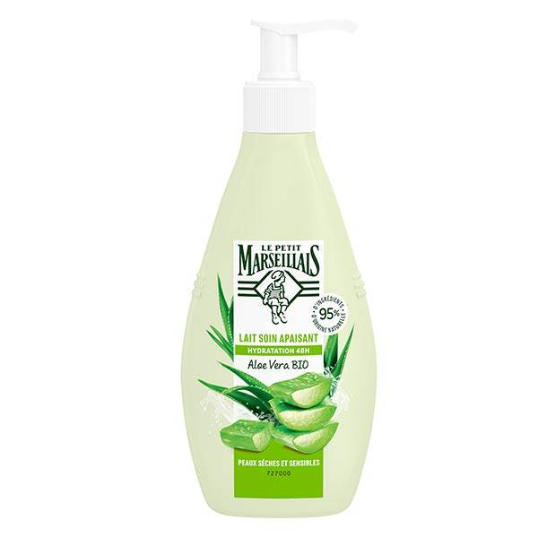 Le Petit Marseillais Lait Soin Hydratant Apaisant Aloe Vera Bio 250ml