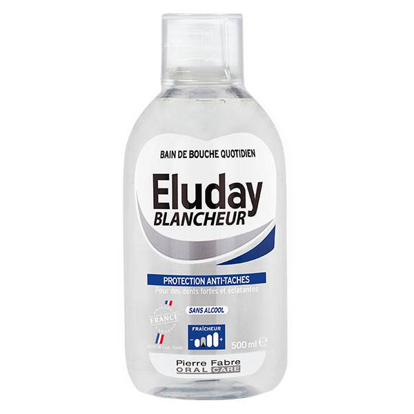 Pierre Fabre Oral Care Eluday Blancheur Bain de Bouche Quotidien 500ml