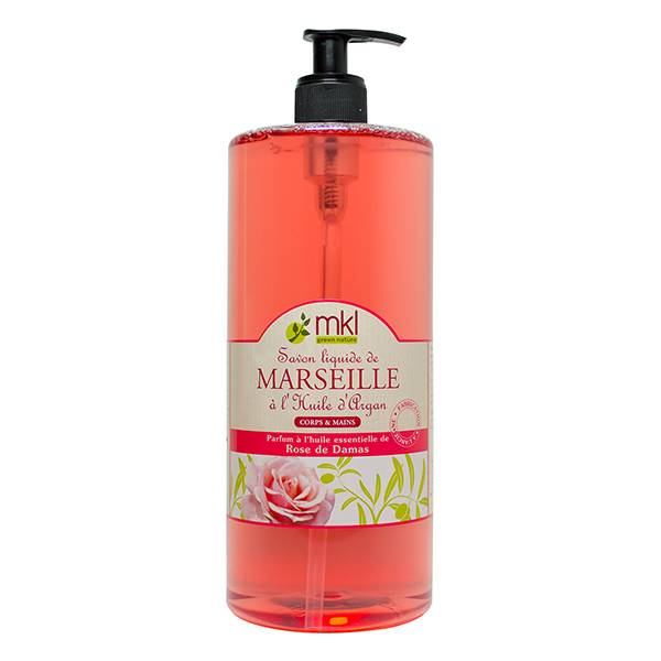 MKL Green Nature Savon Liquide de Marseille Rose de Damas 1L