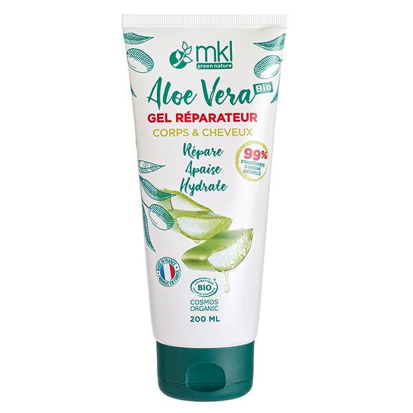 MKL Green Nature Aloe Vera Gel Réparateur Corps Cheveux Bio 200ml