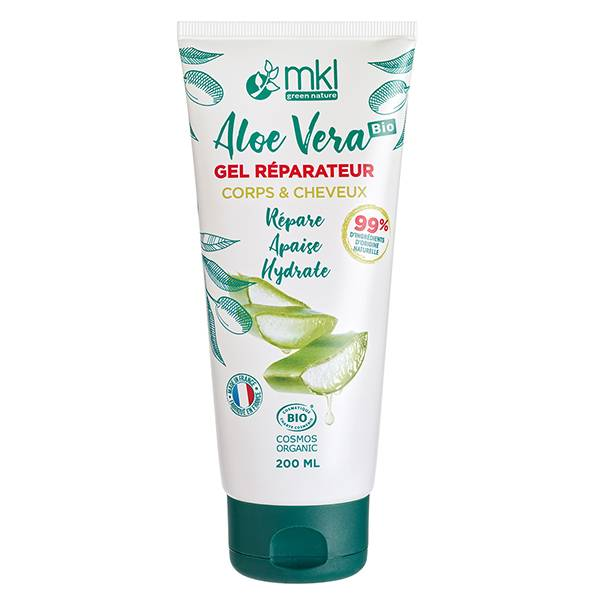 MKL Green Nature Aloe Vera Gel Réparateur Corps Cheveux Bio 200ml
