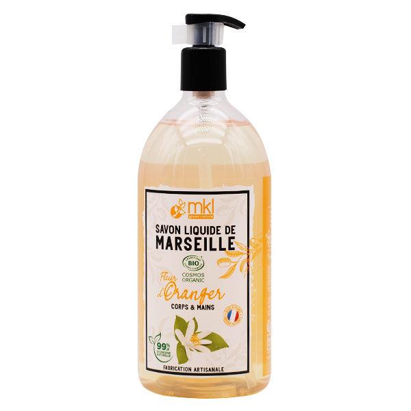 MKL Green Nature Savon Liquide Marseille Fleur d'Oranger Bio 1L