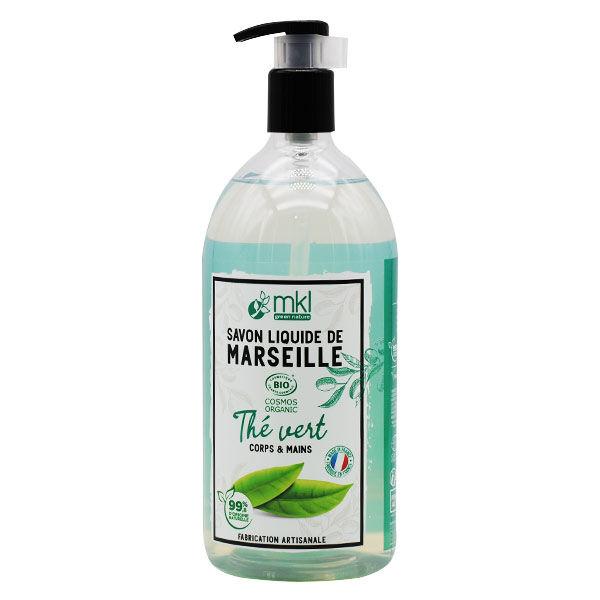 MKL Green Nature Savon Liquide Marseille Thé Vert Bio 1L