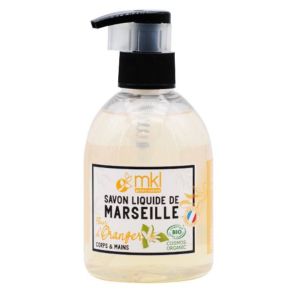 MKL Green Nature Savon Liquide Marseille Fleur d'Oranger Bio 300ml
