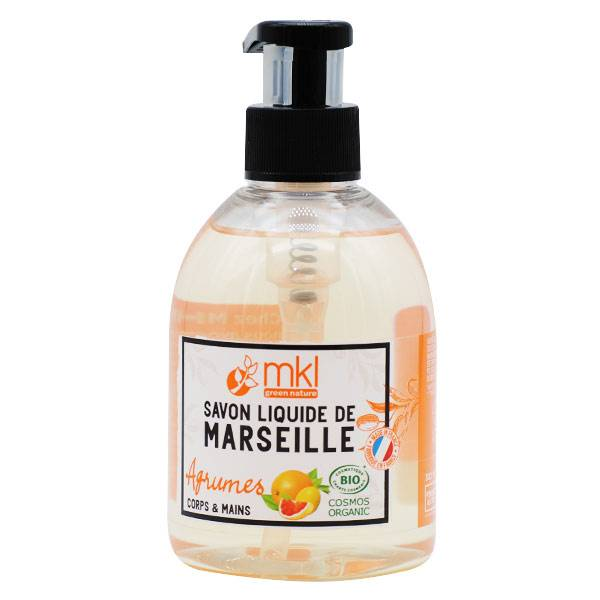 MKL Green Nature Savon Liquide Marseille Agrumes Bio 300ml