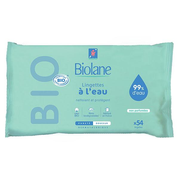 Biolane Expert Lingettes à l'Eau Bio 54 lingettes