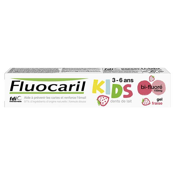 Fluocaril Kids 0-6 ans Dentifrice Gel Fraise 50ml