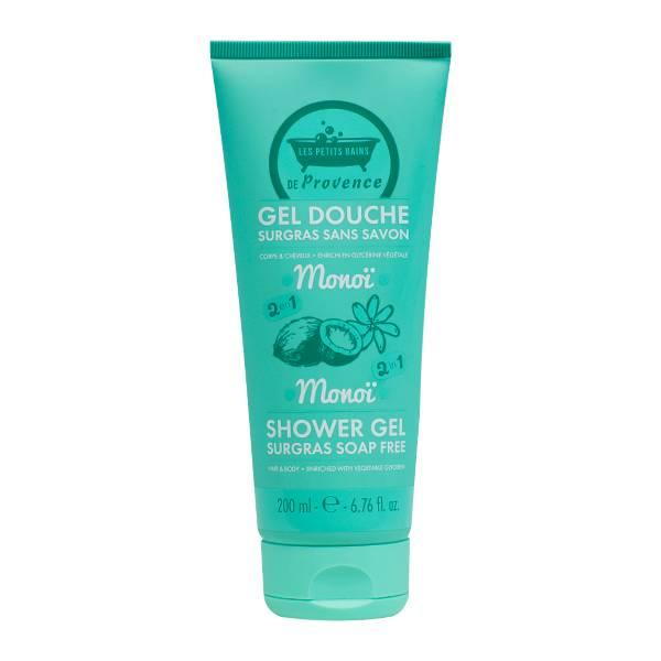 Les Petits Bains de Provence Gel douche Surgras sans savon 2 en 1 Monoï 200ml