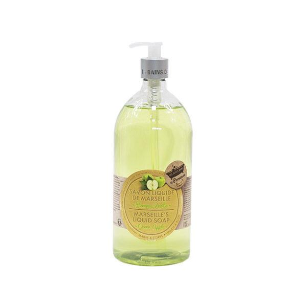 Les Petits Bains de Provence Savon Liquide de Marseille Pomme Verte 1L