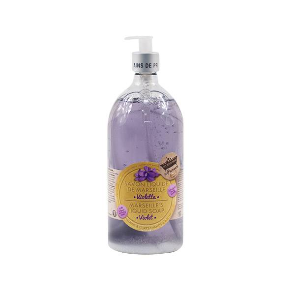 Les Petits Bains de Provence Savon Liquide de Marseille Violette 1L