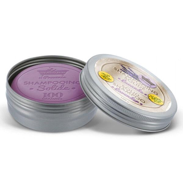 Les Petits Bains de Provence Shampooing Solide Boîte Métal Lavande 100g