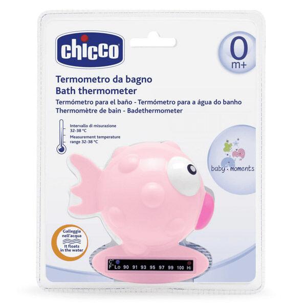 Chicco Thermomètre de Bain Poisson Rose Bande Thermique 1 unité