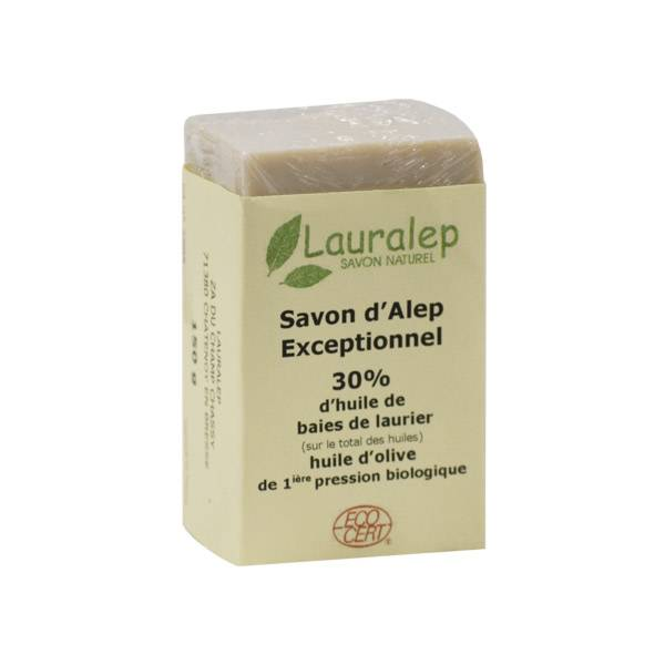 Lauralep Savon d'Alep Exceptionnel Bio 30% d'Huile de Laurier 150g