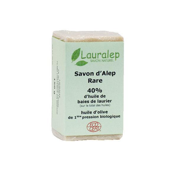 Lauralep Savon d'Alep Rare Bio 40% d'Huile de Laurier 150g