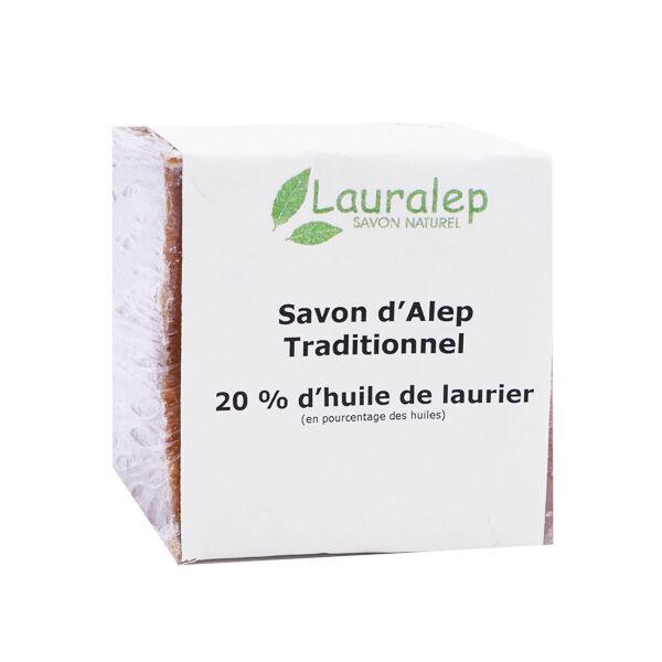 Lauralep Savon d'Alep Traditionnel 20% d'Huile de Laurier 200g