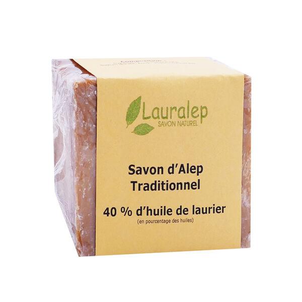 Lauralep Savon d'Alep Traditionnel 40% d'Huile de Laurier 200g