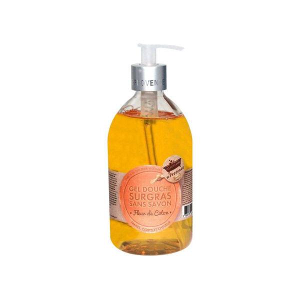 Les Petits Bains de Provence Gel Douche Surgras sans Savon Fleur de Coton 500ml
