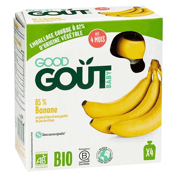 Good Goût Baby Gourde Banane Bio +4m Lot de 4 x 85g