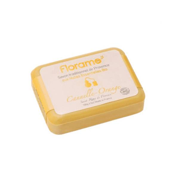 Florame Savon Traditionnel de Provence aux Huiles Essentielles Bio Cannelle-Orange 100g