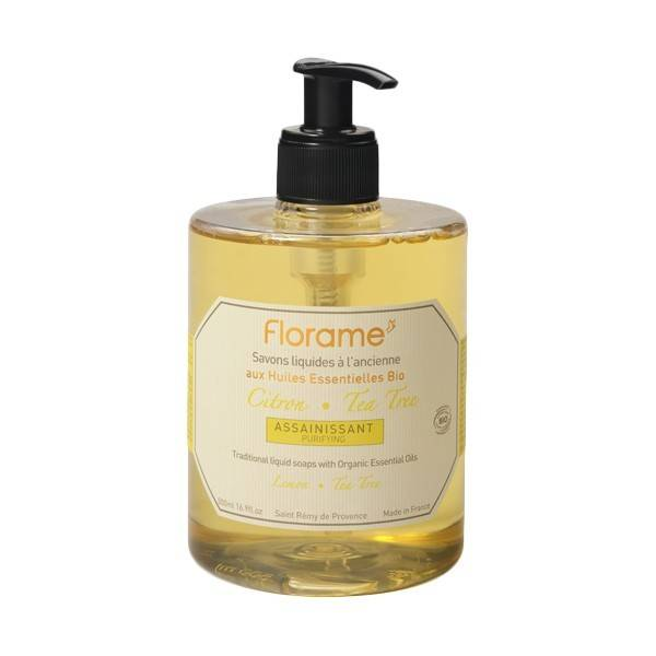 Florame Savon Liquide Citron-Tea Tree 500ml
